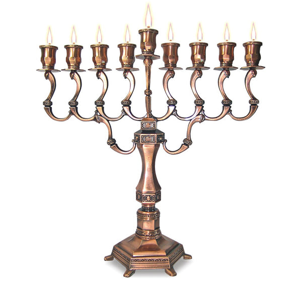 Copper D Menorah Diamond Series 28cm