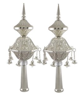 Pair of Rimonim for Torah 25 cm- Silver
