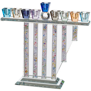 Luxurious Crystal Menorah 26X28 cm- Colorful
