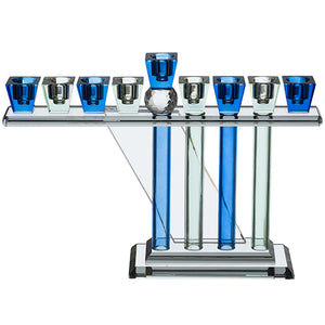 Crystal Menorah 25*18cm- Blue