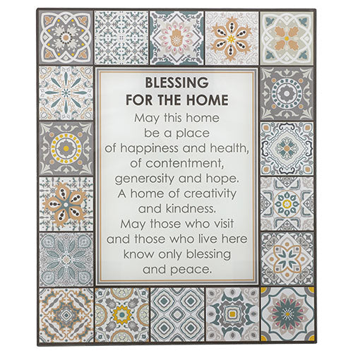 Reinforced Glass Blessing for Wall Hanging - English
