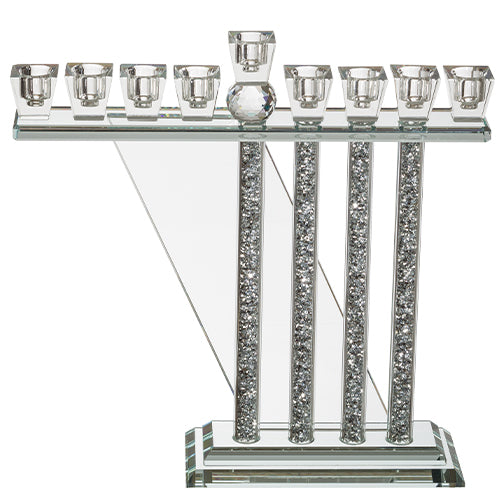 Crystal Menorah 30*26cm - Clear