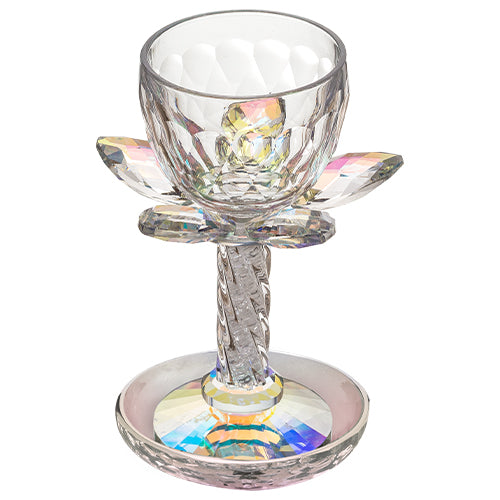 Crystal Kiddush Cup 17.5 cm - Colorful