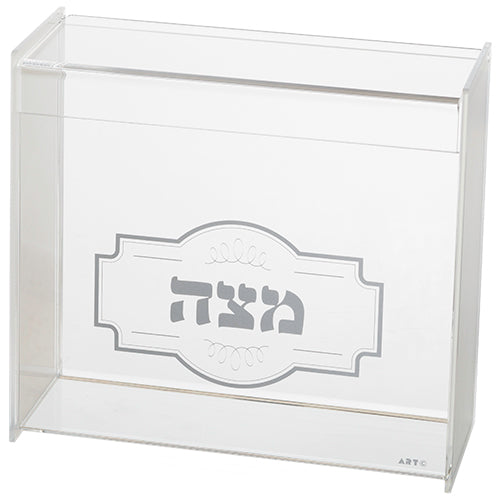 Plexiglass Clear Stand for Matzah 23*21 cm with Ornament