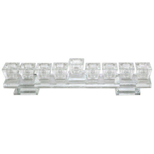Elegant Crystal Menorah On a Base 27*7cm