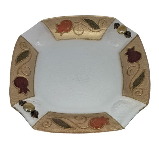 Decorated Gold Tulip Plate