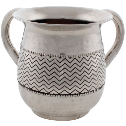 Stainless Steel Washing Cup 12cm - Silver Dotted Design - I