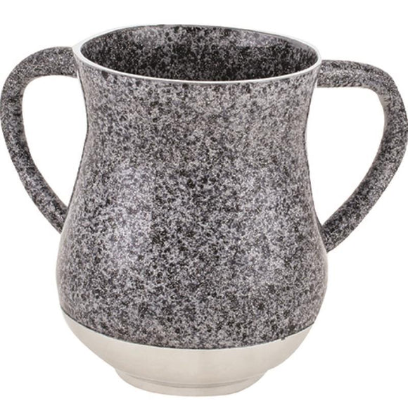 Aluminium Elegant Washing Cup 13 cm- Spotted Dark Gray