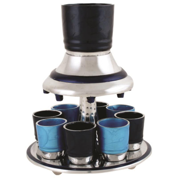 Aluminium Wine Divider with 8 Cups 21cm- Blue