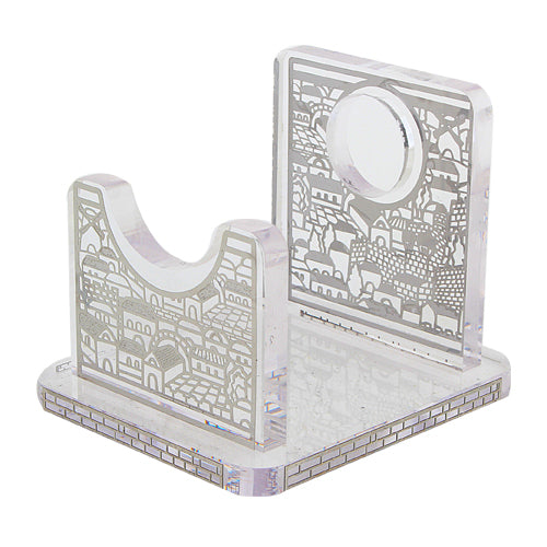 Perspex Stand for Shofar 13x9 cm - Silver