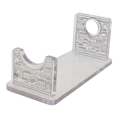Perspex Stand for Shofar 26x9 cm - Silver