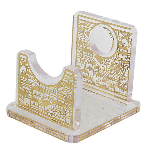 Perspex Stand for Shofar 13x9 cm - Gold