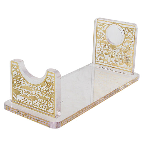 Perspex Stand for Shofar 26x9 cm - Gold