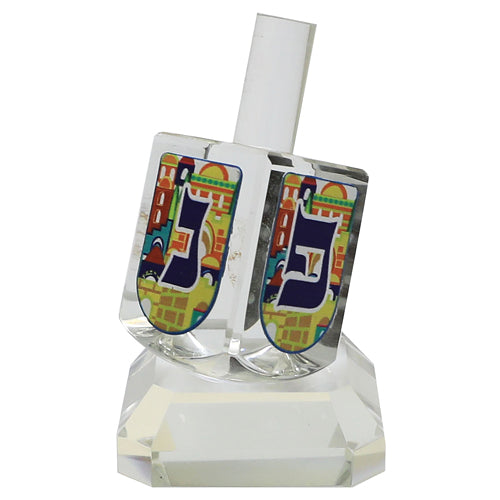 Crystal Dreidel 8cm with Metal Plate- N.G.H.POH