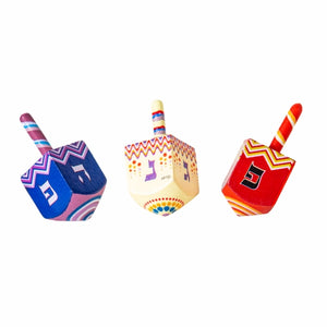"DREIDEL ""N.G.H.POH"" 4.5 CM, ASSORTED COLORS"