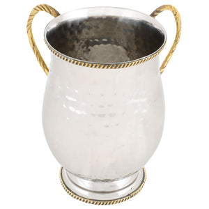Hammered Design Aluminium Washing Cup 18cm, with Base