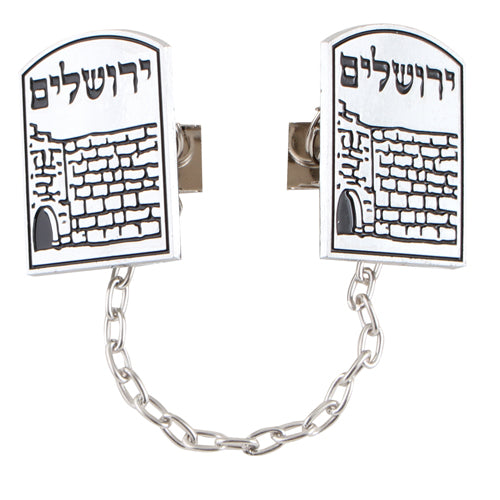 Nickel Tallit Clips with Chain