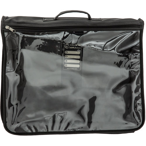 C Fancy Talit Bag with Handle 37x43 cm - Clear