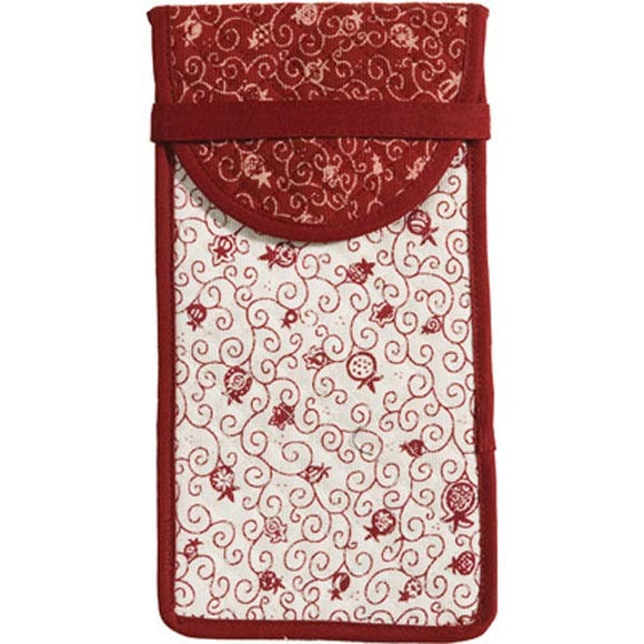 Glasses Pouch - Red/White