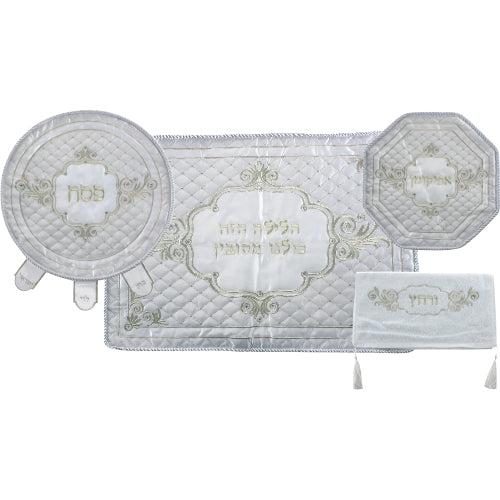 Passover Set: Matzah Cover, Afikoman Cover, Pillow Case and Towel - Circle