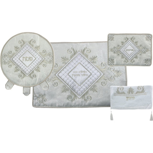 Passover Set: Matzah Cover, Afikoman Cover, Pillow Case and Towel - Square