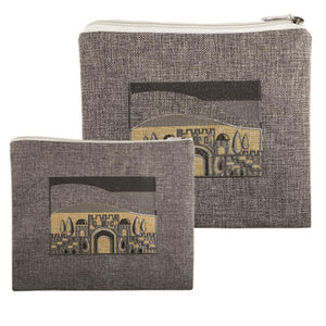 LINEN TALIT - TEFILIN SET 36*29 CM WITH EMBROIDERY