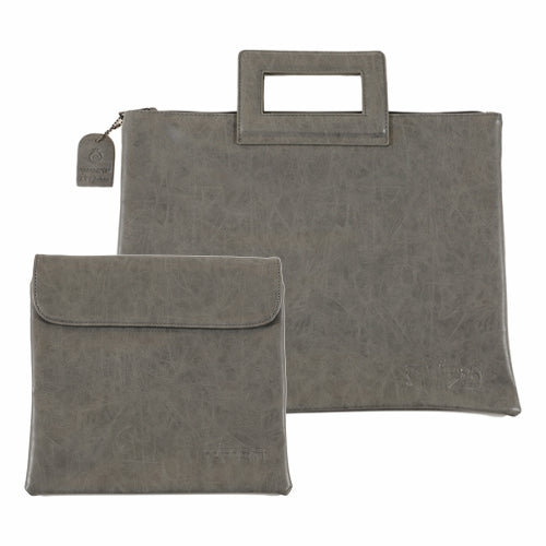 Talit - Tefilin Set 32x39 cm - P.u. Fabric - Gray I