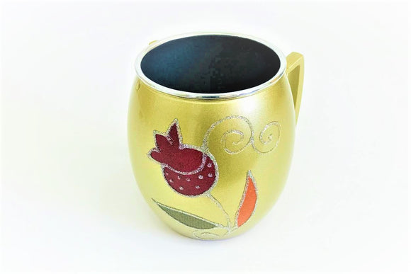 Small Metal Painted Washing Cup - Gold