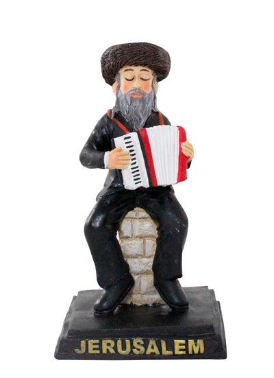 Polyresin Hassidic Figurine 10 cm - Accordion Player