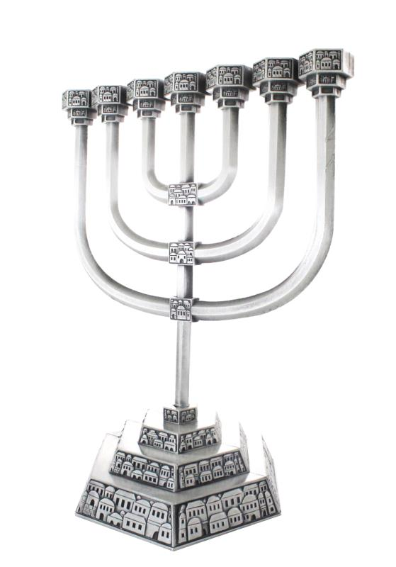 Nickel Menorah 28 cm