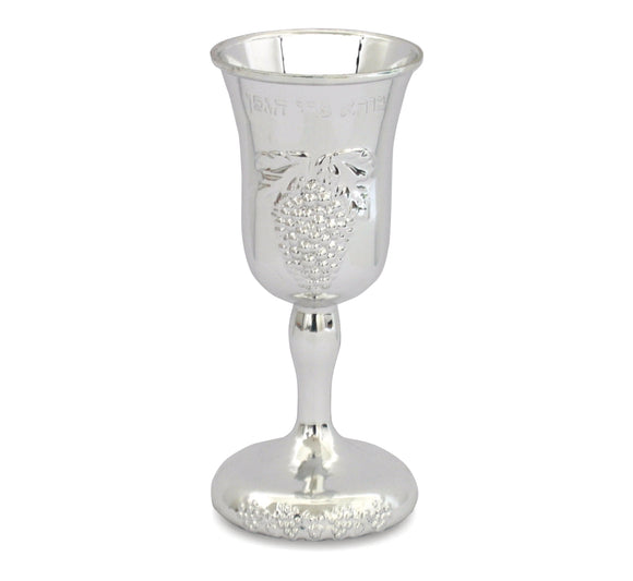 Plastic Kiddush Cup, Silver Color 14cm