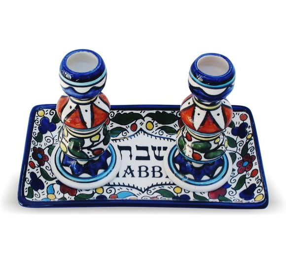 Armenian Candlesticks with Tray 11*20cm