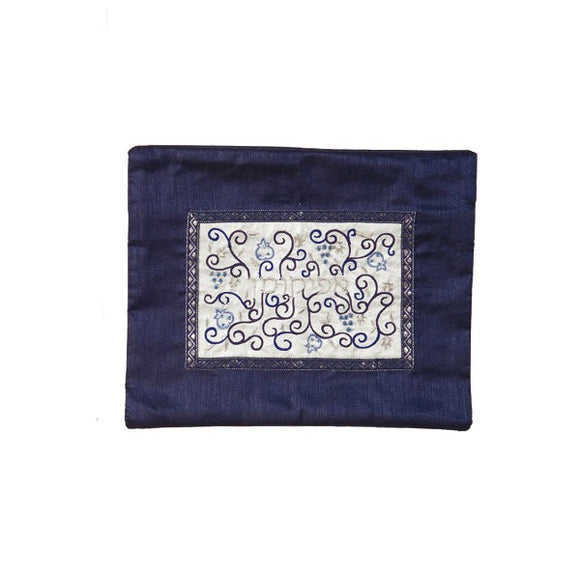 Afikoman Cover - Middle Embroidery - Blue/White