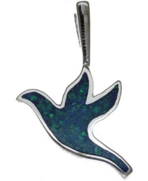 Opal Dove Sterling Silver Pendant