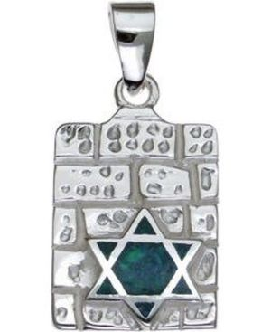 Kotel with Opal Star of David Sterling Silver Pendant