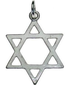 Star of David Sterling Silver Pendant