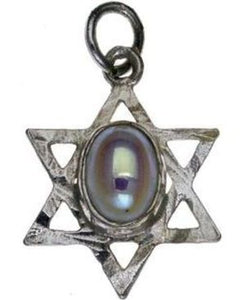 Star of David with Pearl Sterling Silver Pendant