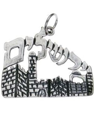 Jerusalem Background Sterling Silver Pendant