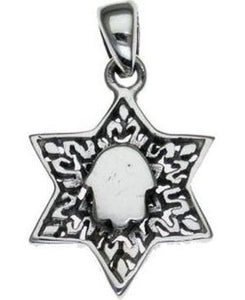 Star of David with Hamsa  Sterling Silver Pendant