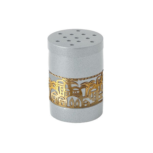 Spice Box & Metal Cutout Jerusalem - Silver