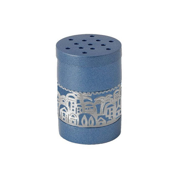 Spice Box & Metal Cutout Jerusalem - Blue