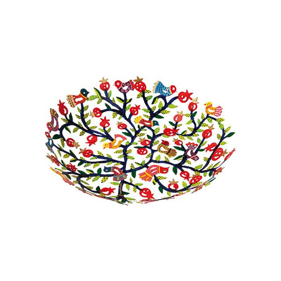 Small Bowl - Laser Cut & Hand Painted - Pomegranates