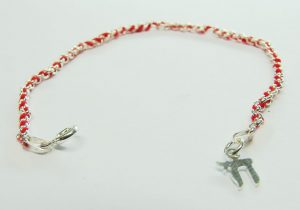 Red String 925 Sterling Silver Bracelet with Chai Charm