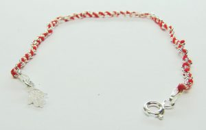 Red String 925 Sterling Silver Bracelet with Hamsa Charm