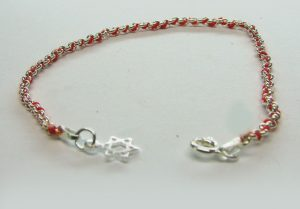 Red String 925 Sterling Silver Bracelet with Star of David Charm
