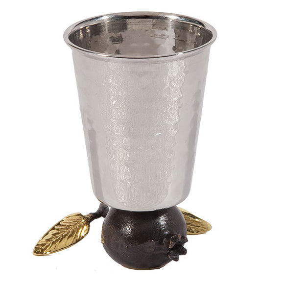 Reversible Kiddush Cup - Stainless Steel - Straight