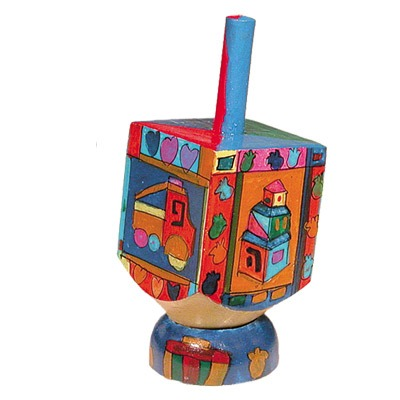 Small Dreidel & Stand - Kids -