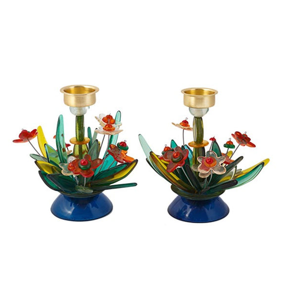Candlesticks - Fountain & Flowers - Small