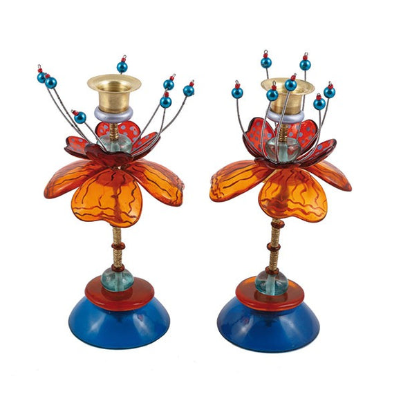 Medium Candlesticks - Fountain - Green/Red