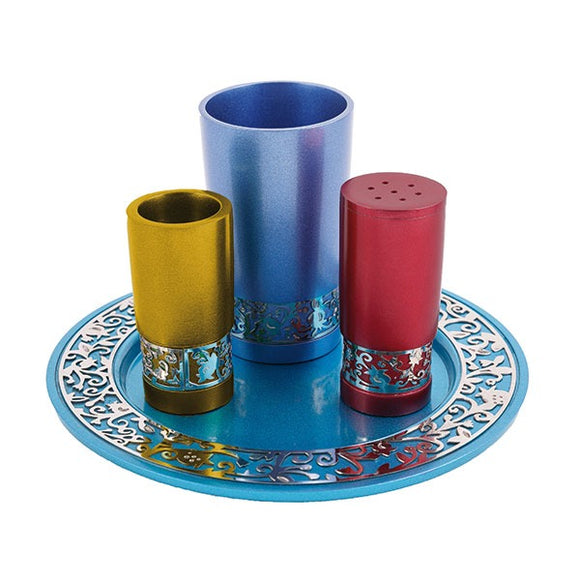 Havdallah Set & Metal Cutout - Multicolored